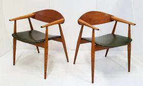 Paire de fauteuils scandinaves 1960 vintage